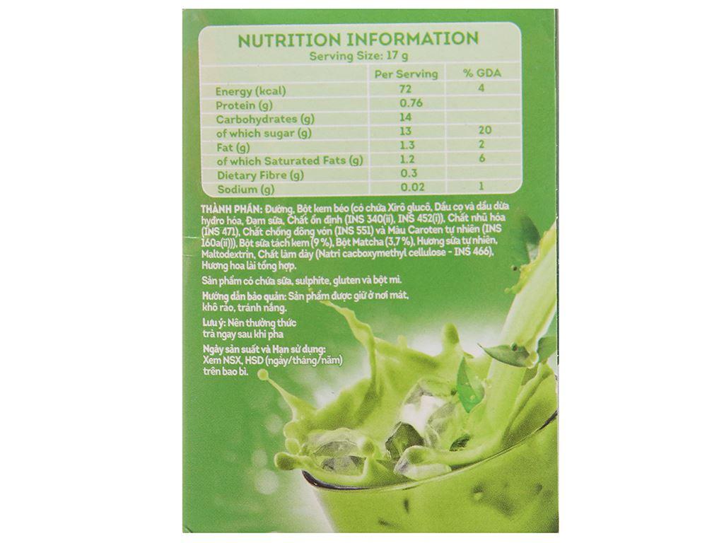 Trà sữa matcha Lipton 3 in 1 hộp 136g 2