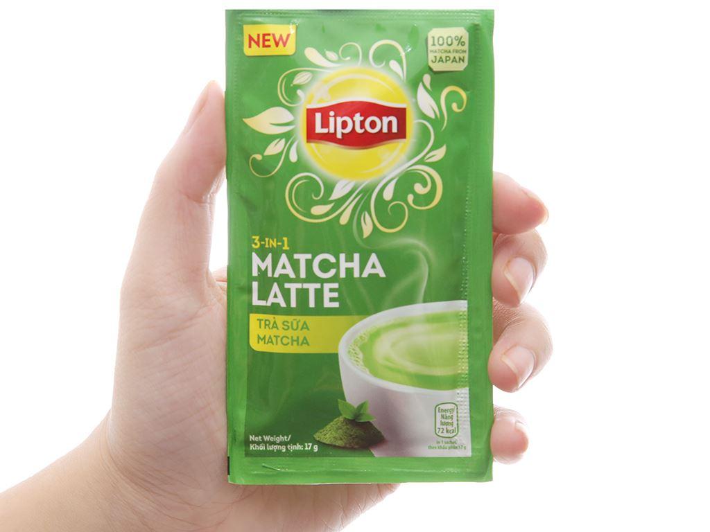 Trà sữa matcha Lipton 3 trong 1 hộp 136g (8 túi x 17g) 4