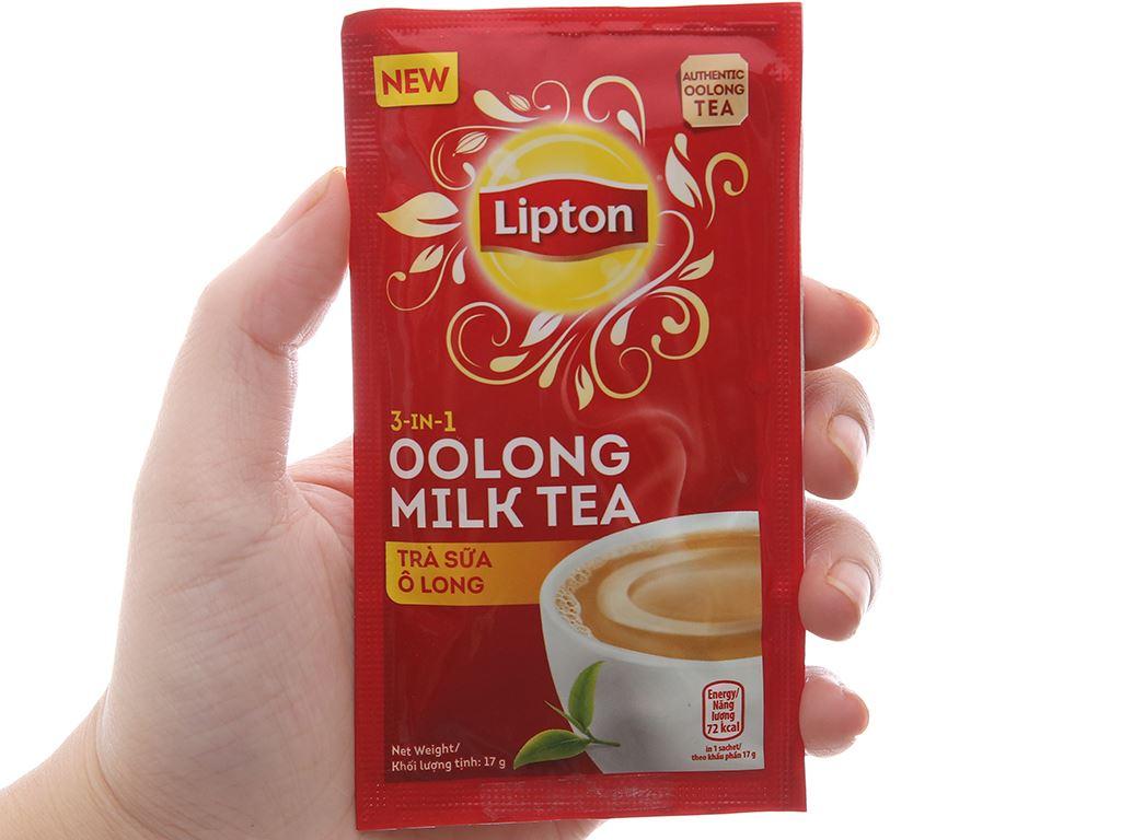 Trà sữa ô long Lipton 3 in 1 hộp 136g 5
