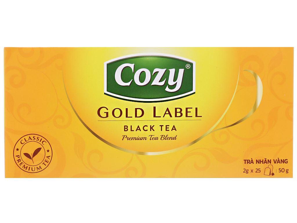 Trà đen Cozy Nhãn Vàng hộp 50g 1