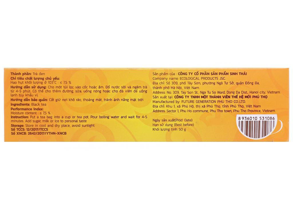 Trà đen Cozy Nhãn Vàng hộp 50g 2