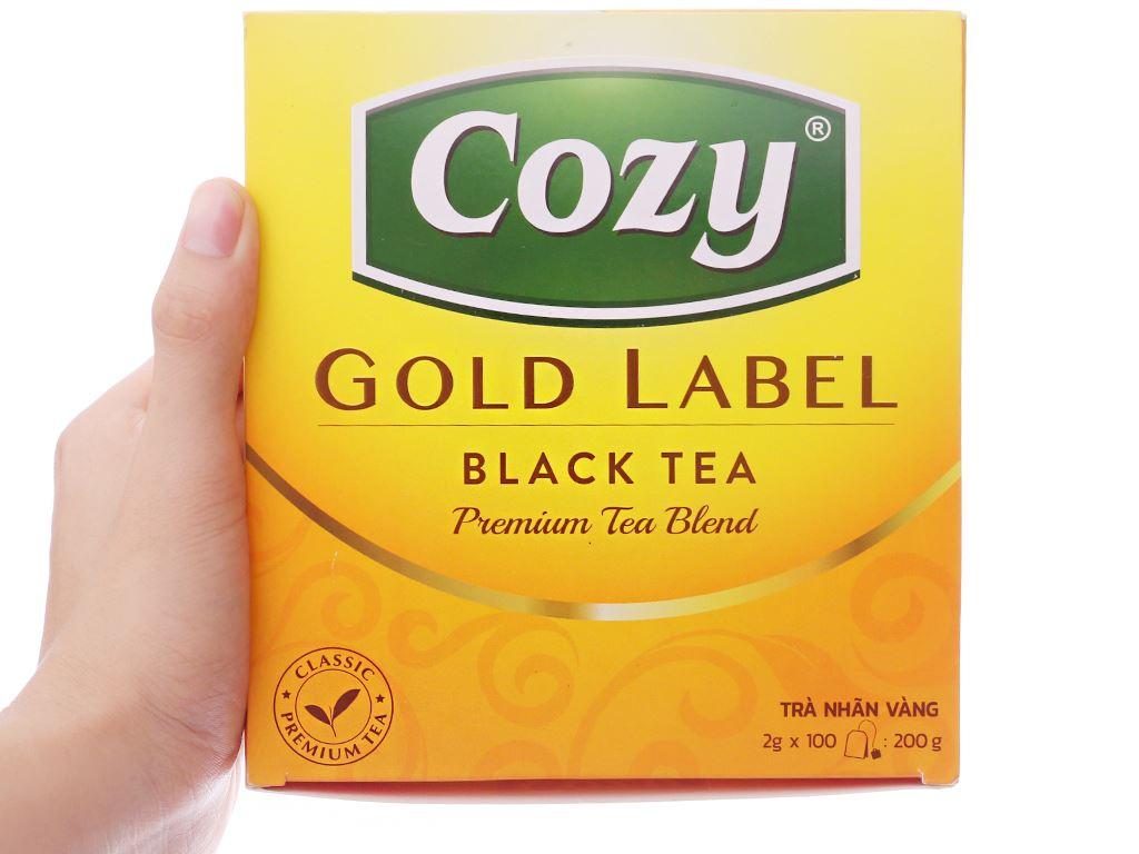 Trà đen Cozy Nhãn Vàng hộp 200g 4