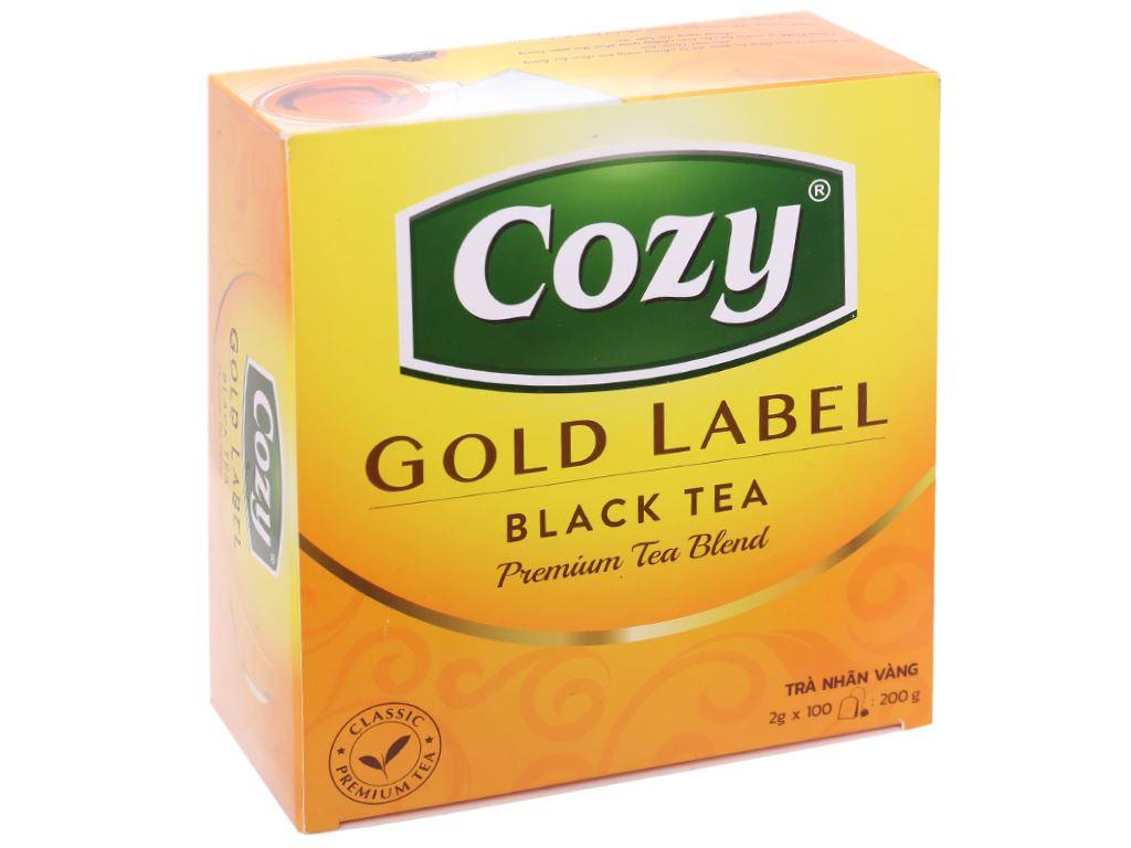 Trà đen Cozy Nhãn Vàng hộp 200g 1