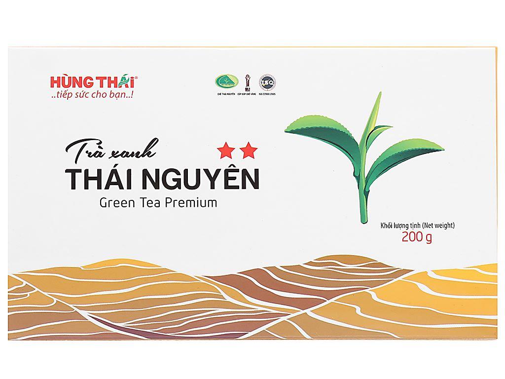 Trà xanh Thái Nguyên Hùng Thái 2 Sao hộp 200g 1