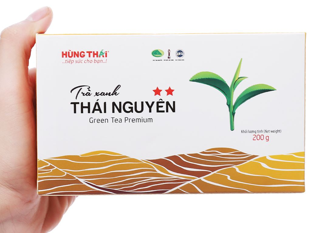 Trà xanh Thái Nguyên Hùng Thái 2 Sao hộp 200g 3