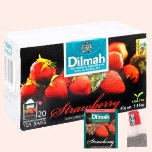 Trà Ceylon Dilmah hương dâu hộp 40g