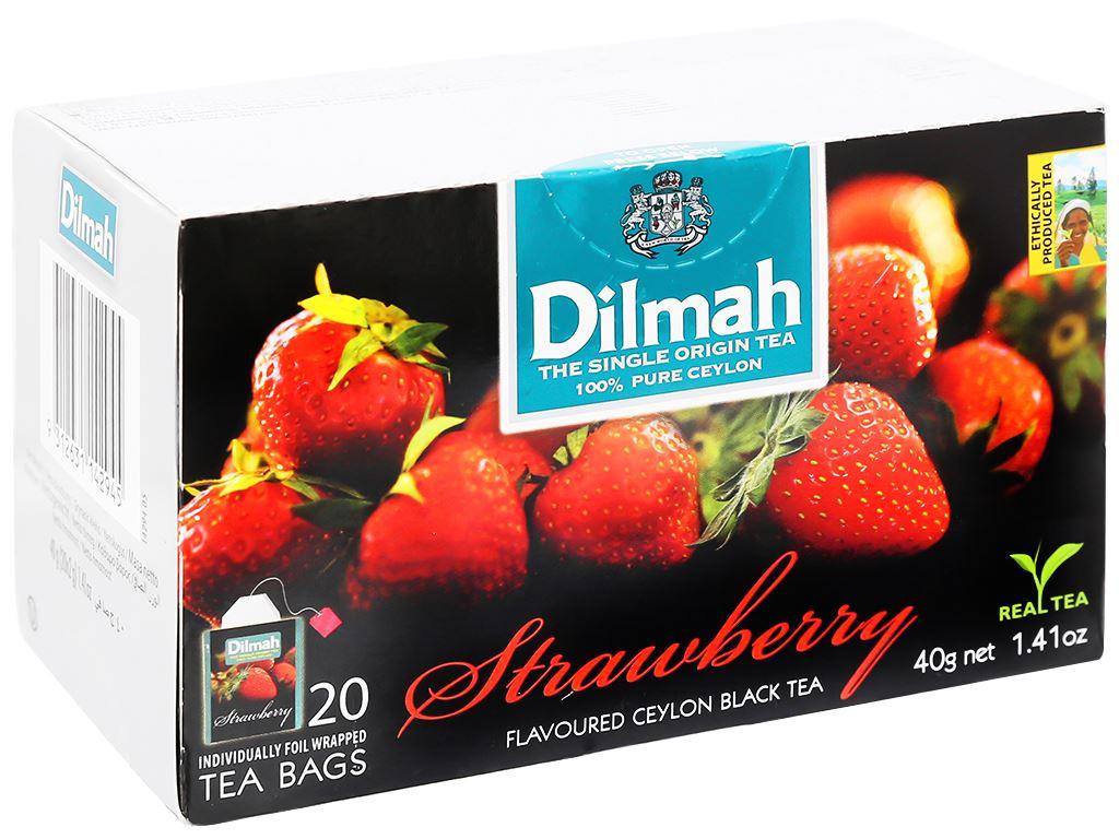Trà Ceylon Dilmah hương dâu hộp 40g 1