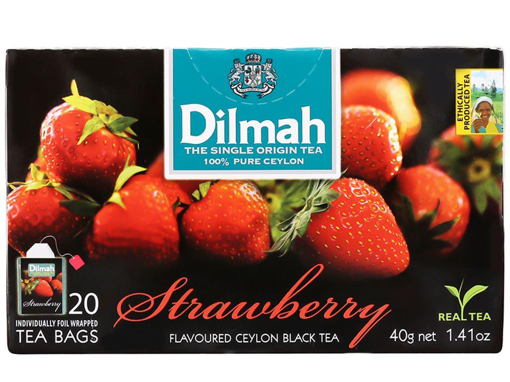 Trà Ceylon Dilmah hương dâu hộp 40g 2