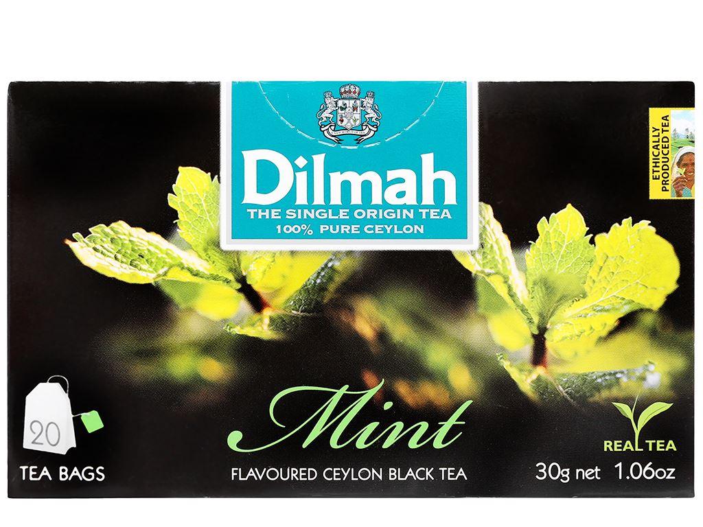 Trà Ceylon Dilmah hương bạc hà hộp 30g 2