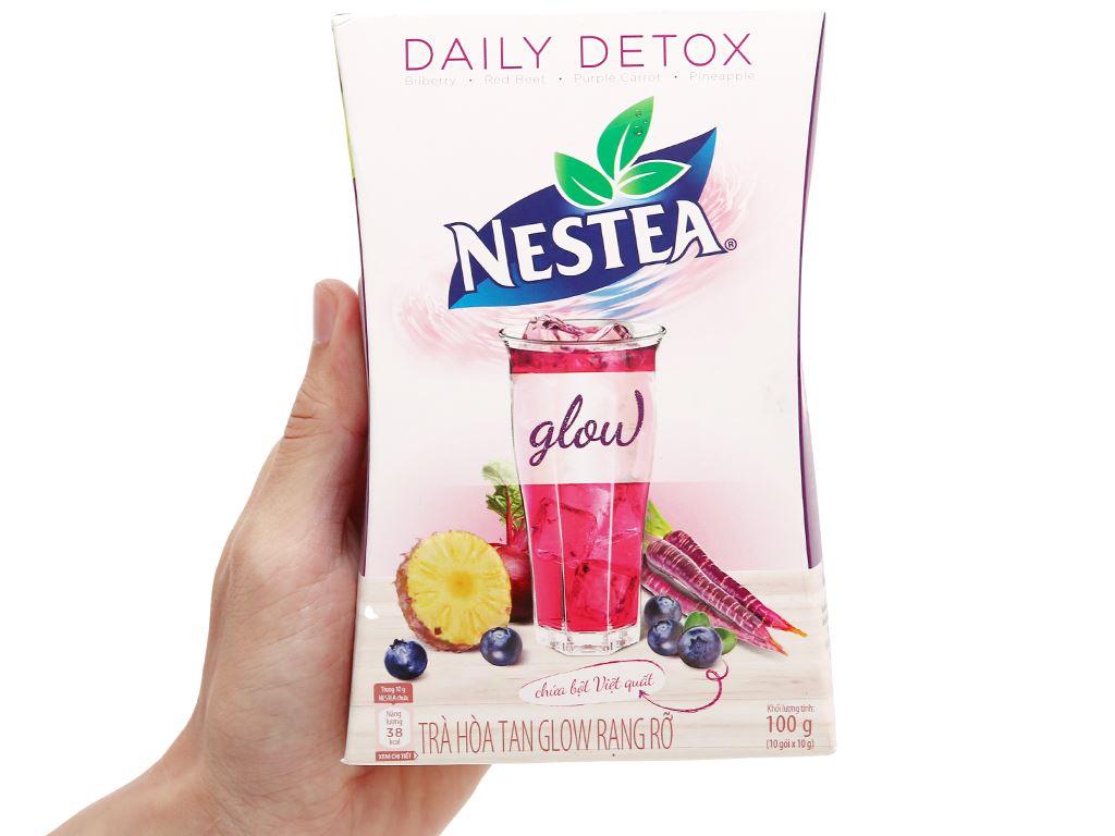 Trà daily detox Nestea Glow hộp 100g 1