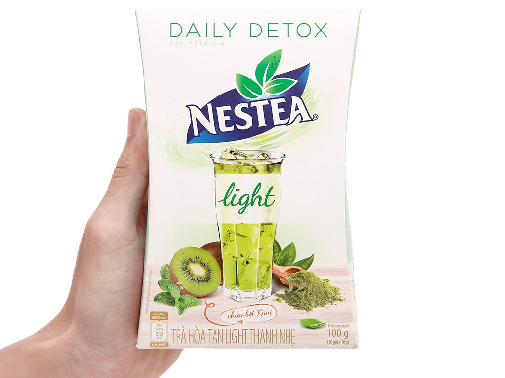Trà daily detox Nestea Light hộp 100g 2