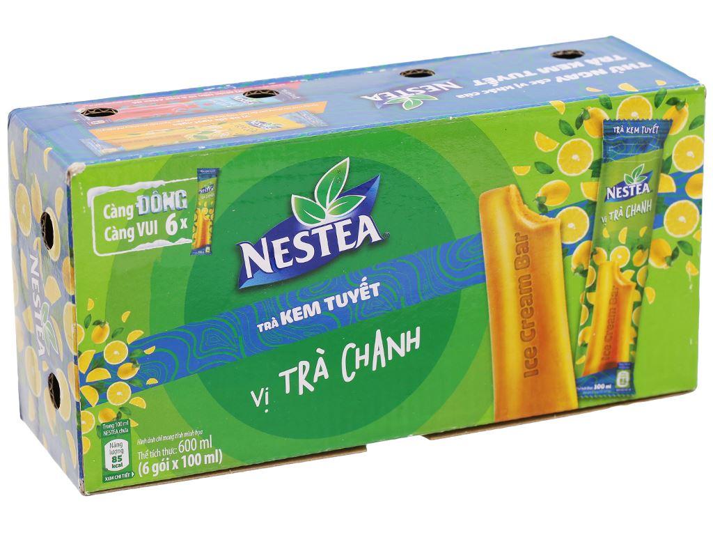 Trà kem tuyết Nestea vị trà chanh hộp 600ml 1