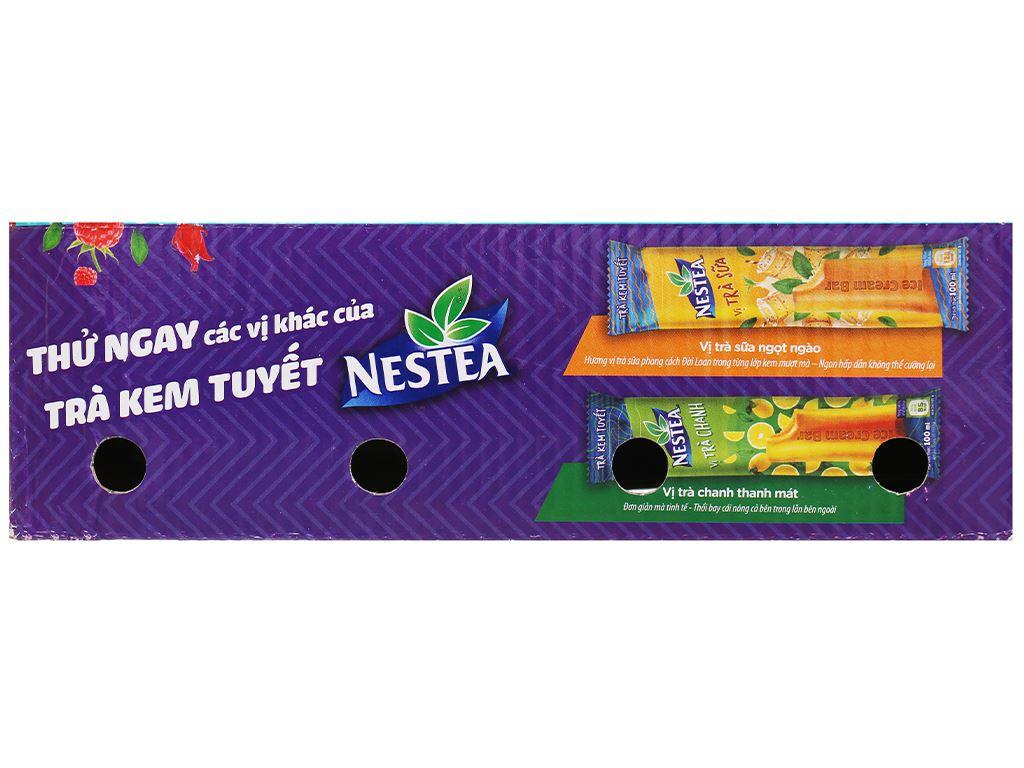 Trà kem tuyết Nestea vị Phúc bồn tử và hoa Atisô đỏ hộp 600ml 2