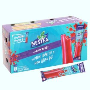 Trà kem tuyết Nestea vị Phúc bồn tử và hoa Atisô đỏ hộp 600ml
