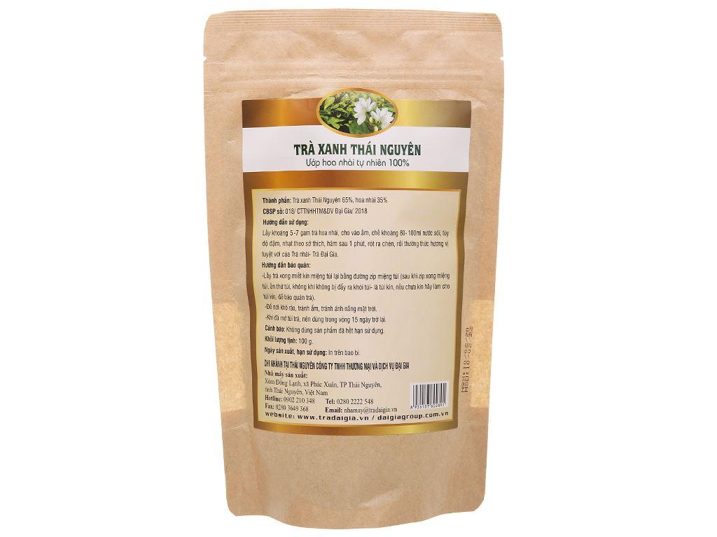 Trà xanh Thái Nguyên ướp hoa nhài Đại Gia gói 100g 2