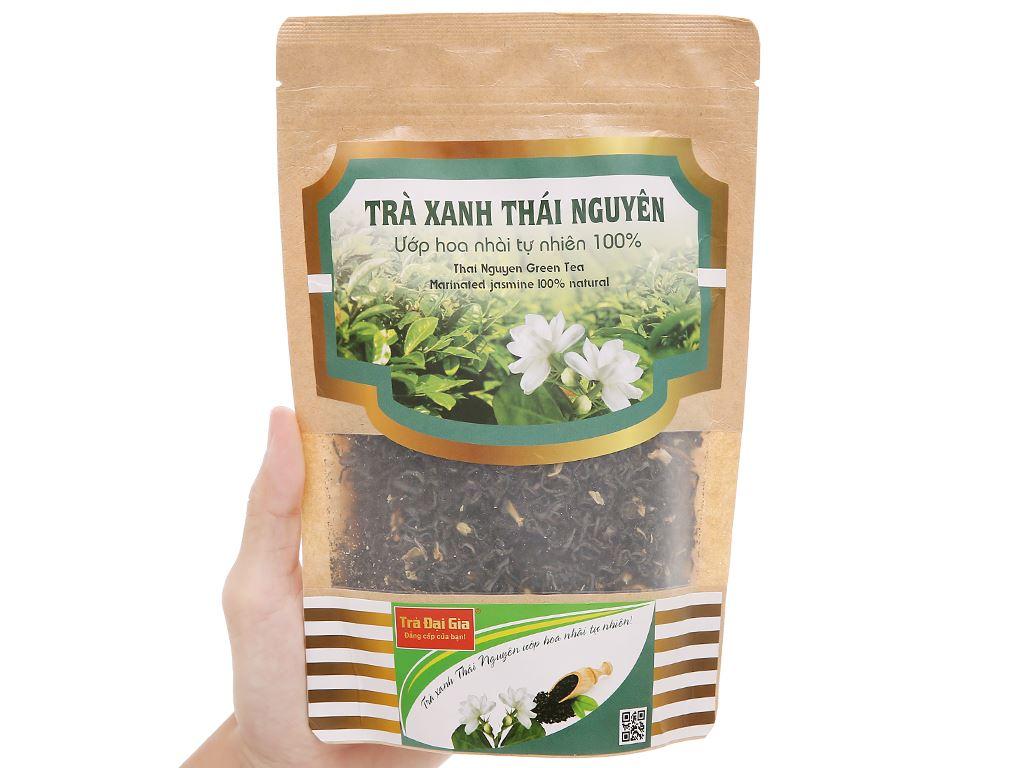 Trà xanh Thái Nguyên ướp hoa nhài Đại Gia gói 100g 4