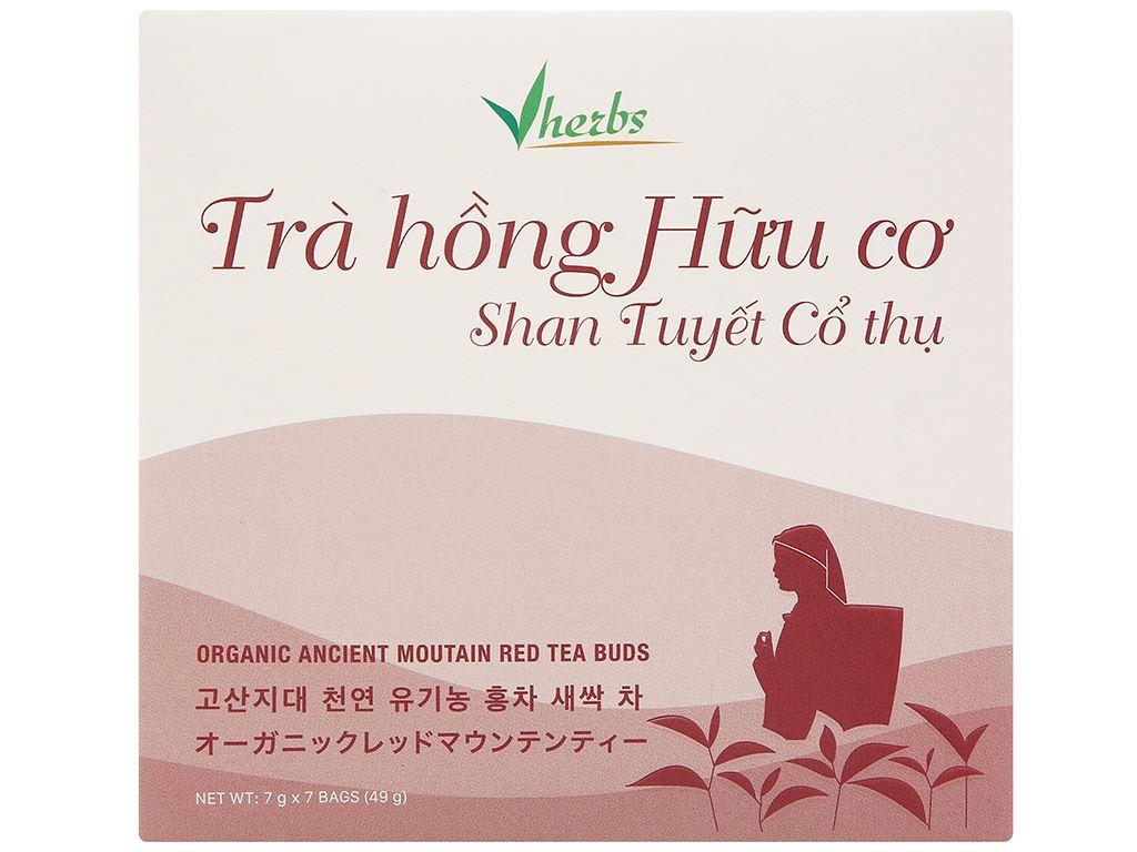 Trà hồng hữu cơ Vherbs Shan Tuyết Cổ Thụ hộp 49g 1