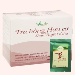 Trà hồng hữu cơ Vherbs Shan Tuyết Cổ Thụ hộp 49g