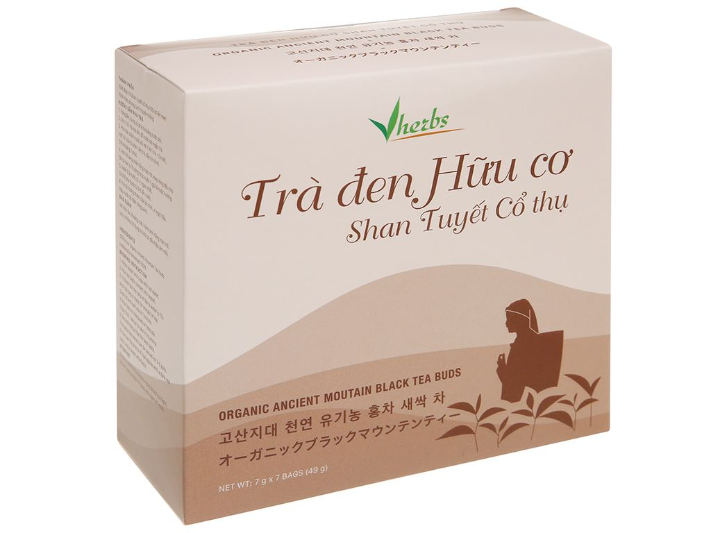 Trà đen hữu cơ Vherbs Shan Tuyết Cổ Thụ hộp 49g 1
