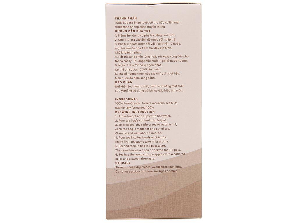 Trà đen hữu cơ Vherbs Shan Tuyết Cổ Thụ hộp 49g 4