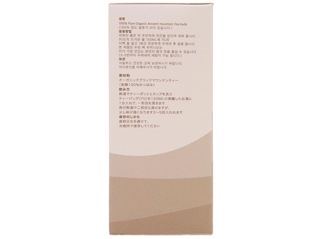 Trà đen hữu cơ Vherbs Shan Tuyết Cổ Thụ hộp 49g 5