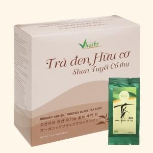 Trà đen hữu cơ Vherbs Shan Tuyết Cổ Thụ hộp 49g