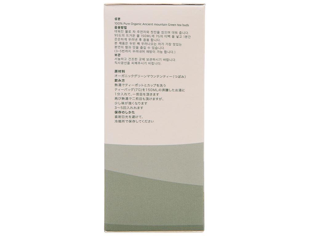 Trà xanh hữu cơ Vherbs Shan Tuyết Cổ Thụ hộp 49g 4