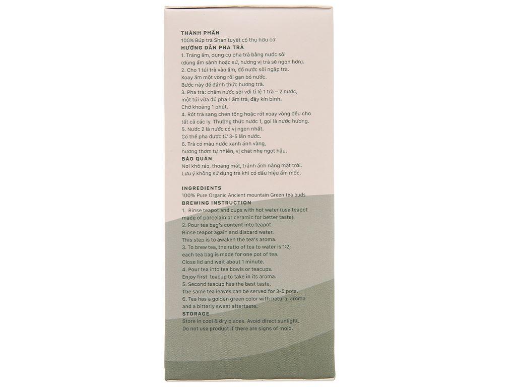 Trà xanh hữu cơ Vherbs Shan Tuyết Cổ Thụ hộp 49g 5