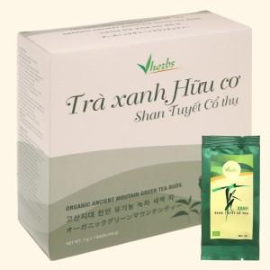 Trà xanh hữu cơ Vherbs Shan Tuyết Cổ Thụ hộp 49g