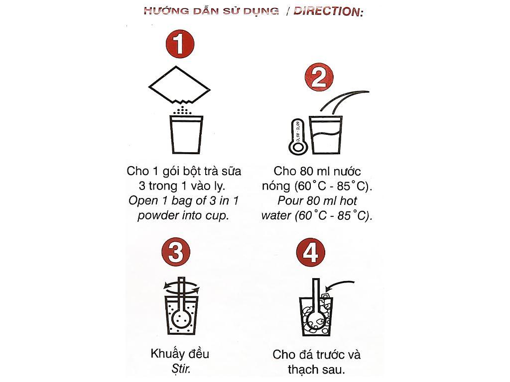 Trà sữa 3 in 1 Wangcha hộp 400g 6