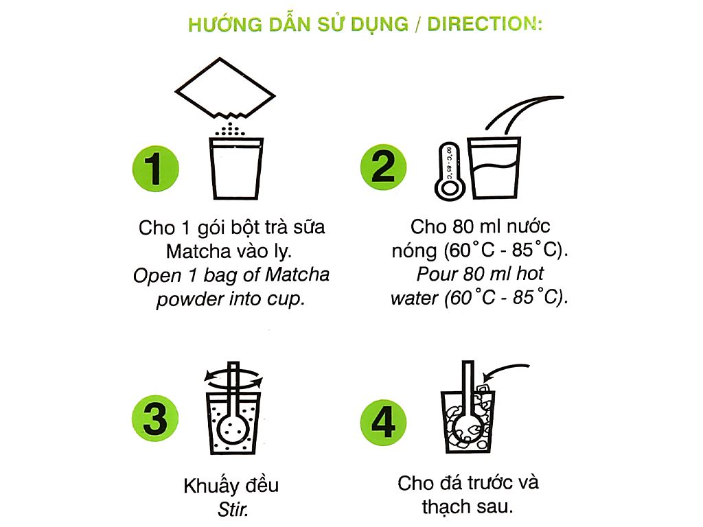 Trà sữa matcha Wangcha hộp 400g 6