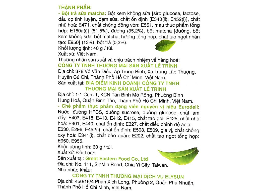 Trà sữa matcha Wangcha hộp 400g 7