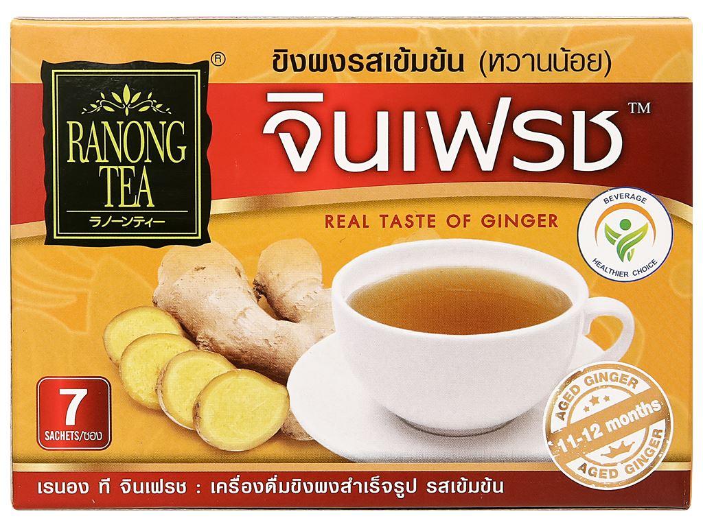 Bột trà gừng đậm đà Ranong Tea hộp 105g 1