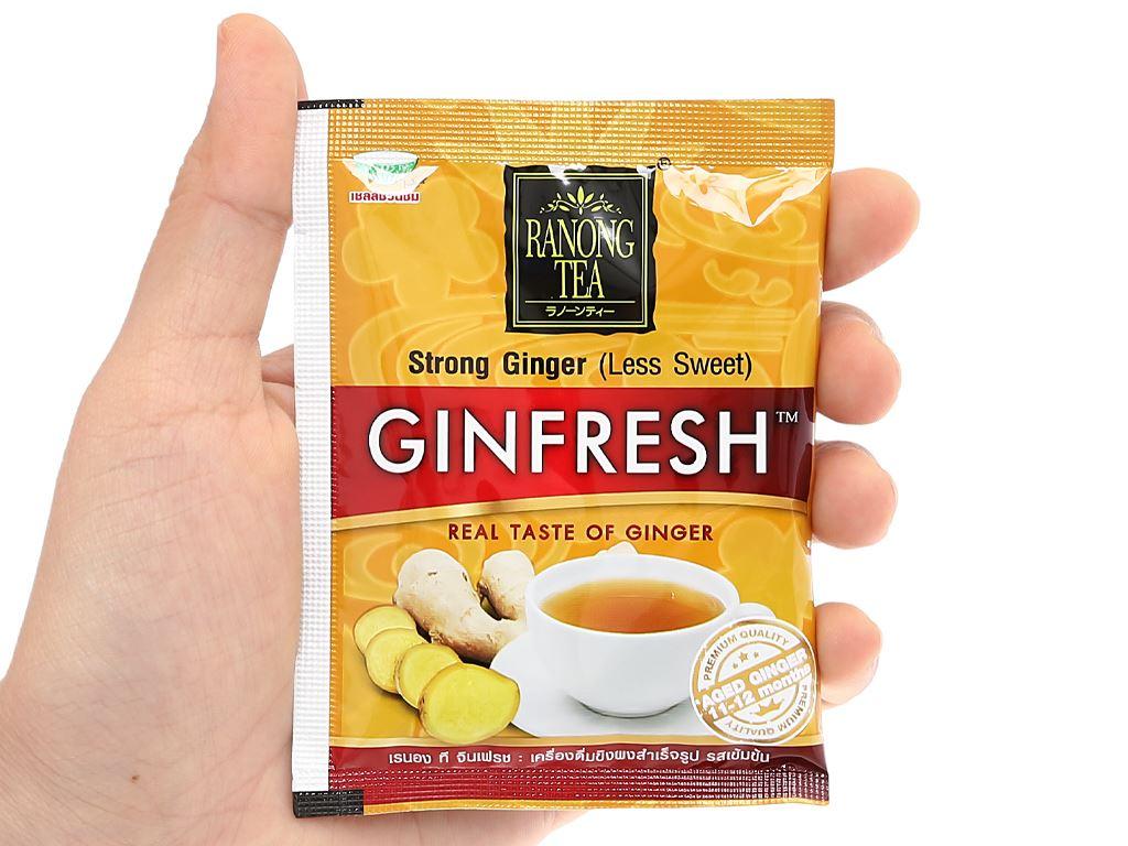 Bột trà gừng đậm đà Ranong Tea hộp 105g 7