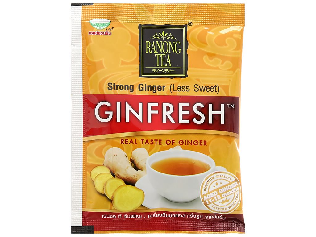 Bột trà gừng đậm đà Ranong Tea hộp 105g 8