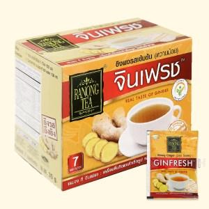 Bột trà gừng đậm đà Ranong Tea hộp 105g