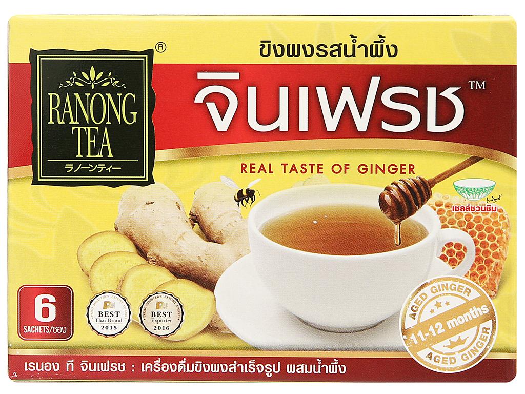 Bột trà gừng mật ong Ranong Tea hộp 72g 1