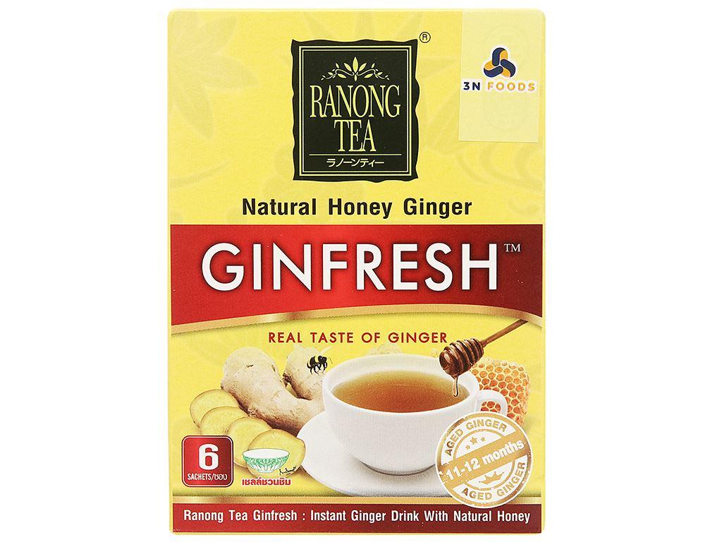 Bột trà gừng mật ong Ranong Tea hộp 72g 4