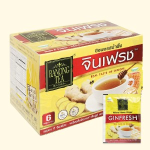 Bột trà gừng mật ong Ranong Tea hộp 72g