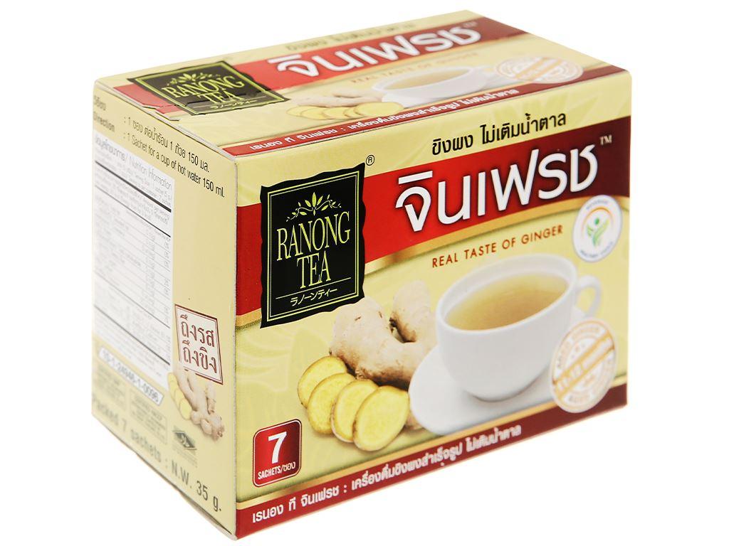Bột trà gừng 100% không đường Ranong Tea hộp 35g 1
