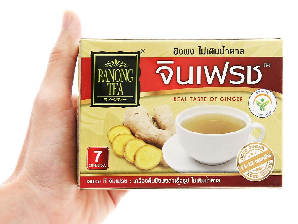 Bột trà gừng 100% không đường Ranong Tea hộp 35g 2