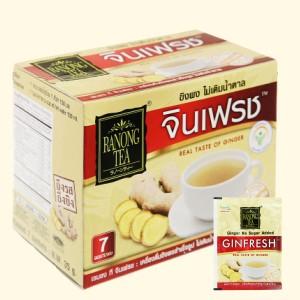 Bột trà gừng 100% không đường Ranong Tea hộp 35g