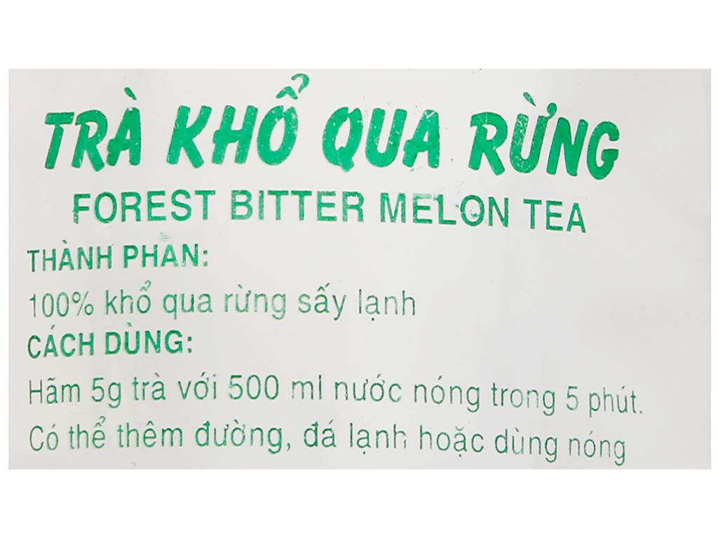 Trà khổ qua rừng Hương Sen Việt gói 25g 3