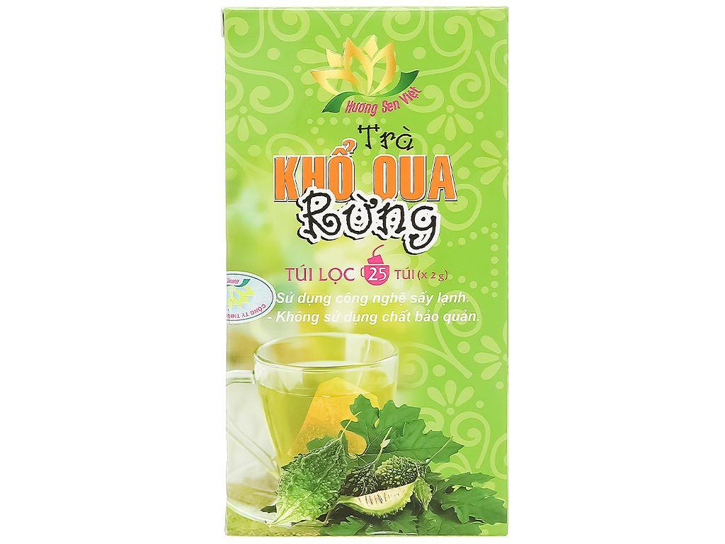 Trà khổ qua rừng túi lọc Hương Sen Việt hộp 50g 3