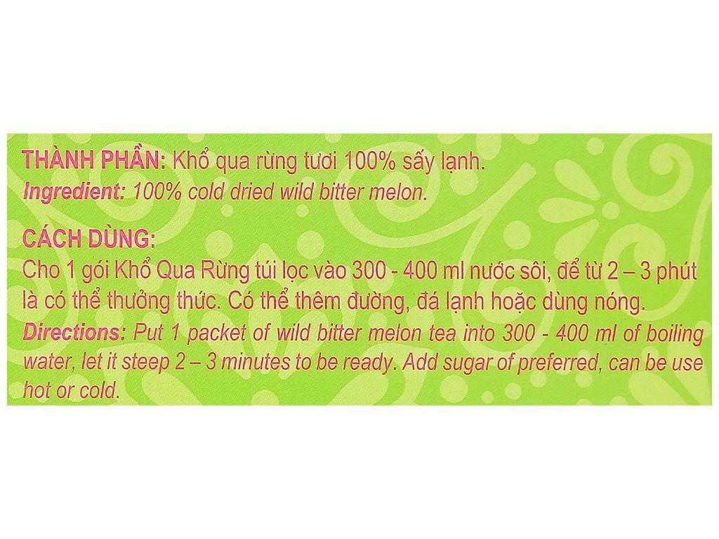 Trà khổ qua rừng túi lọc Hương Sen Việt hộp 50g 6