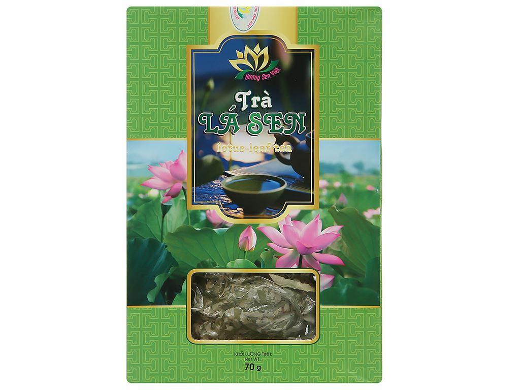 Trà lá sen Hương Sen Việt hộp 70g 2