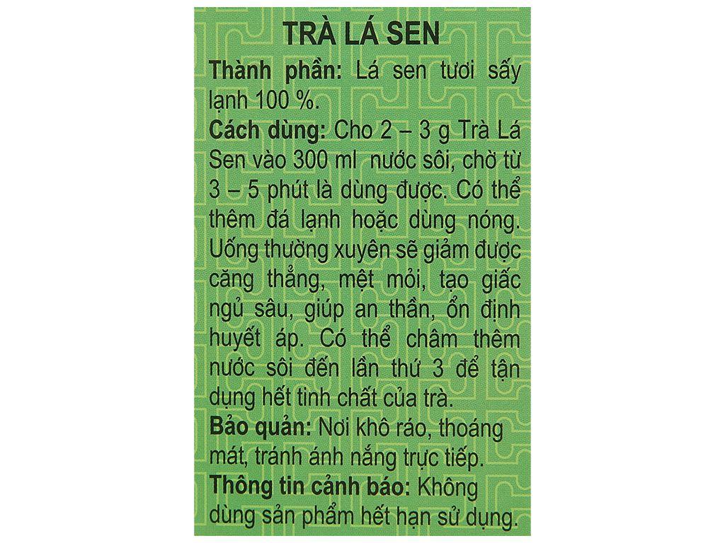 Trà lá sen Hương Sen Việt hộp 70g 6