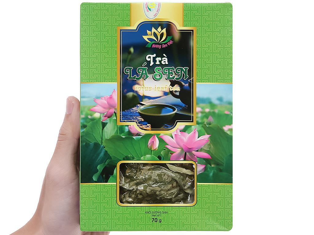 Trà lá sen Hương Sen Việt hộp 70g 7