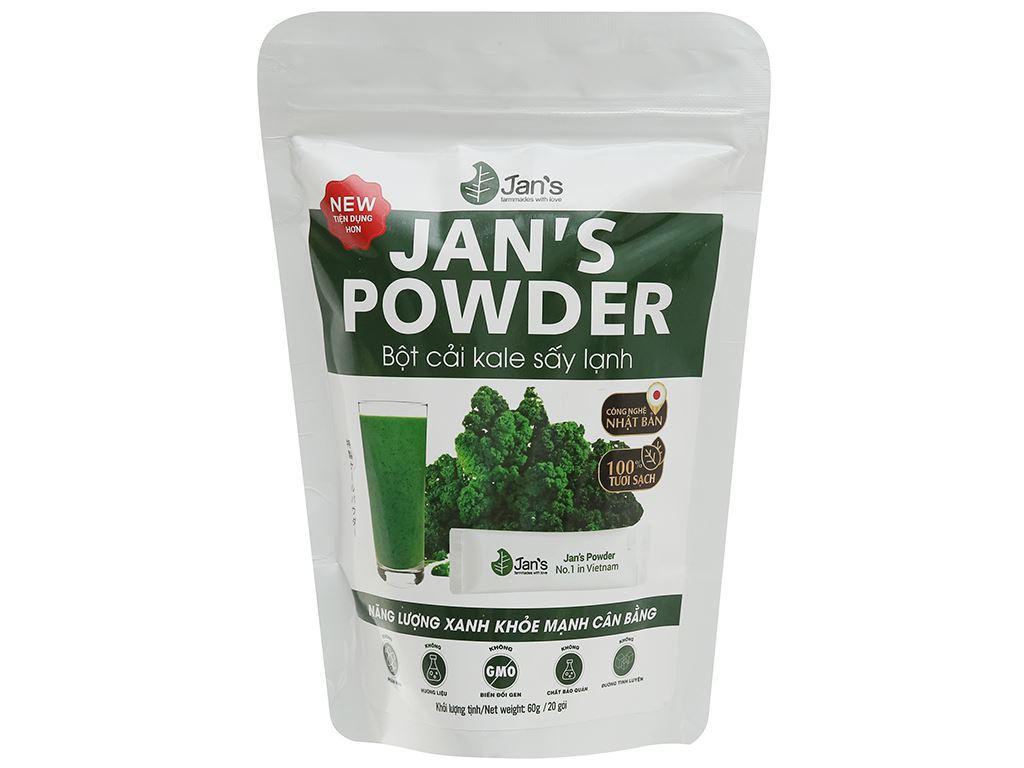 Bột cải kale sấy lạnh Jan's Powder bịch 60g 1