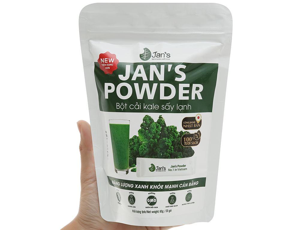 Bột cải kale sấy lạnh Jan's Powder bịch 60g 6